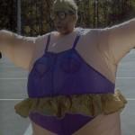 Fat Ballerina costume Matoaka Elementary halloween parade