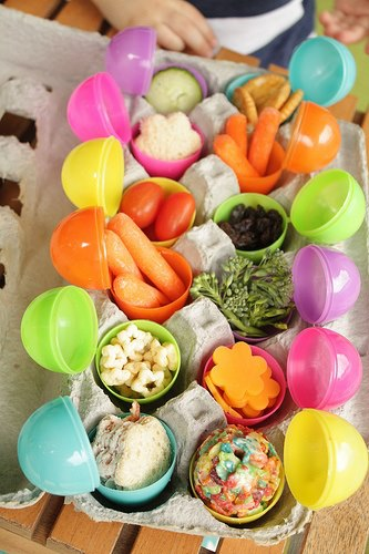 Easter Egg Healthy School Lunch Idea
