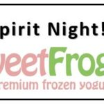 Spirit Night - Sweet Frog - Tonight!